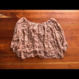 Free People Pink Flowy Shirt - Made In India